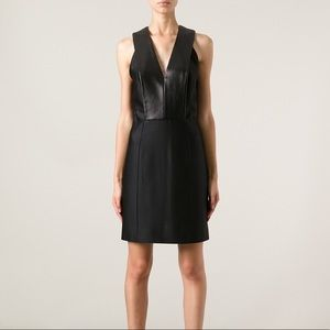Alexander Wang Black Leather Panel Dress